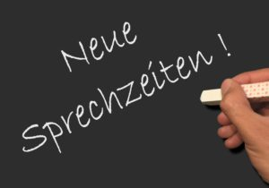 Sportorthopädie Müllheim Tafel - neue Sprechzeiten © Fotolia, JiSign